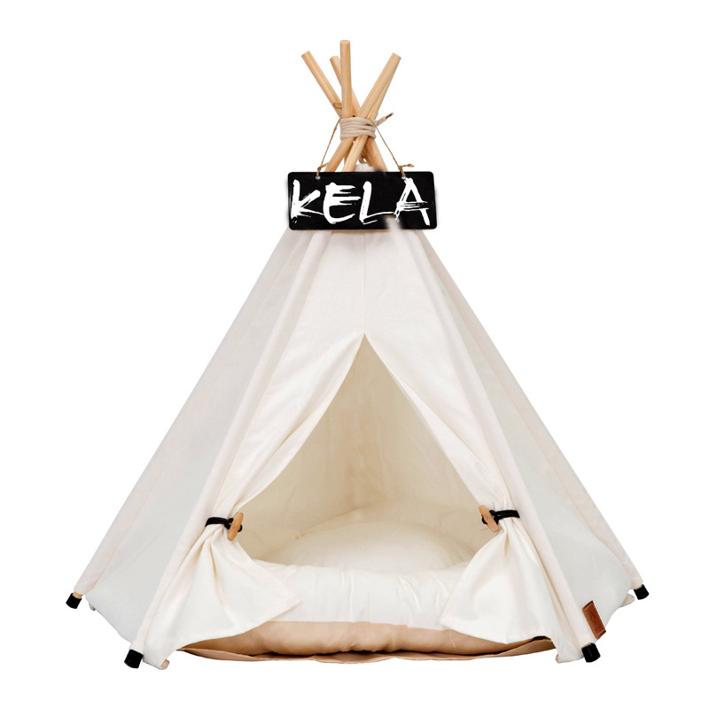 JORMEL Pet Tent Pet bed Portable Washable Dog Puppy Toy House Cat Teepee Star Pattern Contain