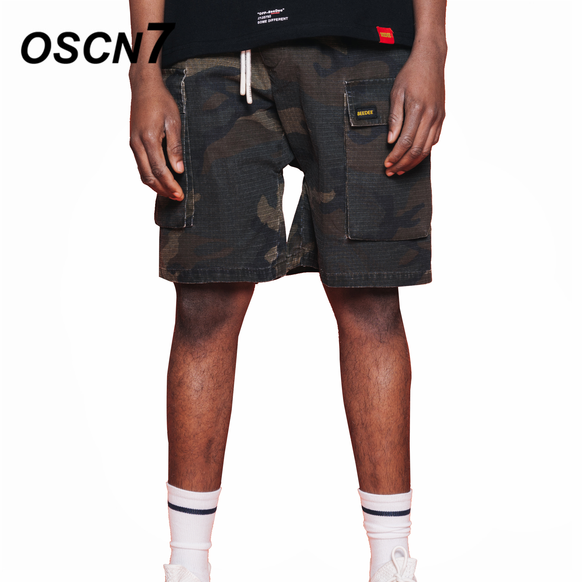 OSCN7 Camouflage Shorts Men Loose Casual Plus Size Mens Shorts Streetwear Leisure Short Pants D804