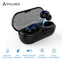 SYLLABLE HBQ-Q13S TWS Bluetooth V5.0 Sports earphone/earbuds SweatProof Wireless 600mah Charger case SYLLABLE Q13S with Dual Mic