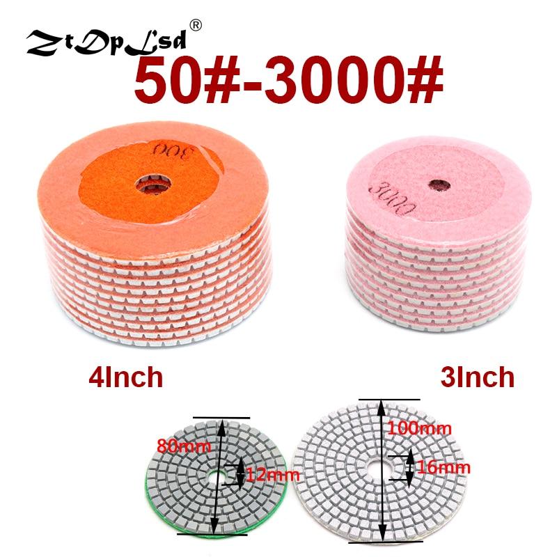 1 Pcs Diamond Flexible Wet Polishing Disc Holder For Marble Stone Ceramic Granite Tile Concrete Grinding Pad Sander Tool Pads