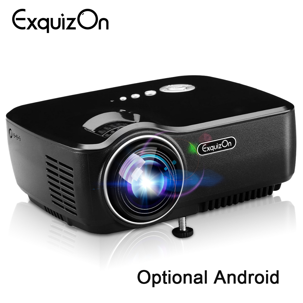 Exquizon Gp70 Lcd 800*480 Projector (optioneel Android 4.4 Bluetooth Wifi) Hd 1080 P 1800 Lumens Led Hdmi Video Home Theater Producten Worden Zonder Beperkingen Verkocht