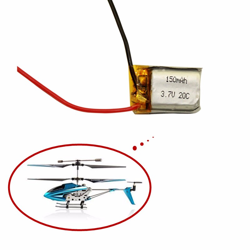 <font><b>3.7V</b></font> <font><b>150mAh</b></font> Lipo battery For Syma S107 S107G 1S <font><b>3.7V</b></font> <font><b>150mAh</b></font> 20C Li-Po Battery 3.7 V 150 mah Helicopter Part 1PCS image