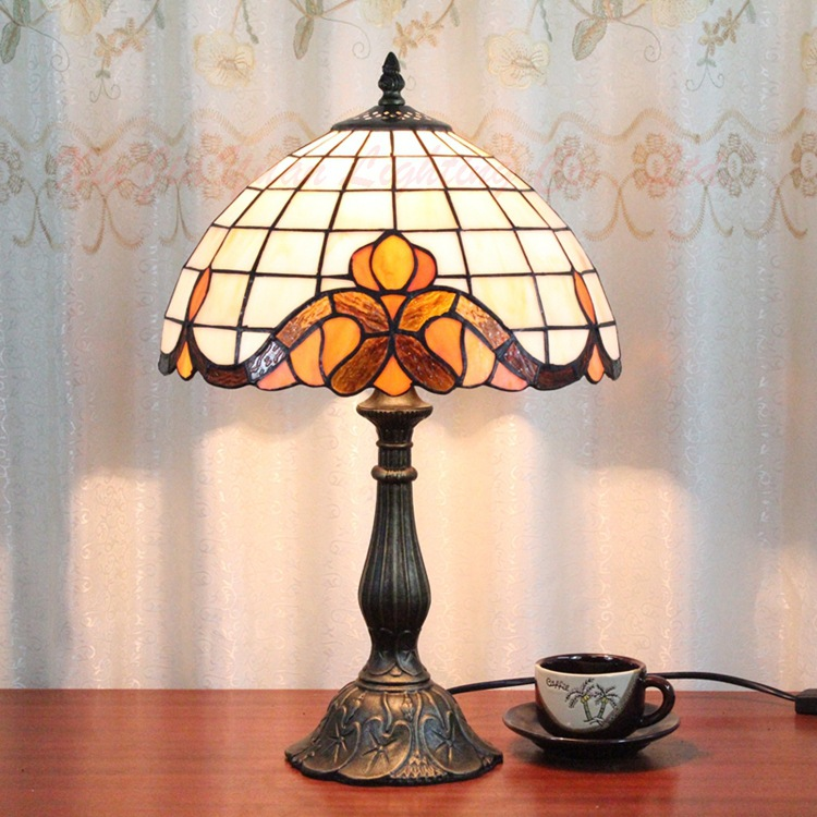 12 Inch Flesh Country Flowers Tiffany Table Lamp Country Style Stained Glass Lamp for Bedroom E27 110-240V сумка country style 9003