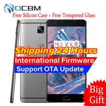 "Original oneplus 3 3 t 6 gb ram 64 gb rom snapdragon 820 821 Quad Core 5.5 ""FHD Android 6.0 4G LTE Teléfono Móvil huella digital"