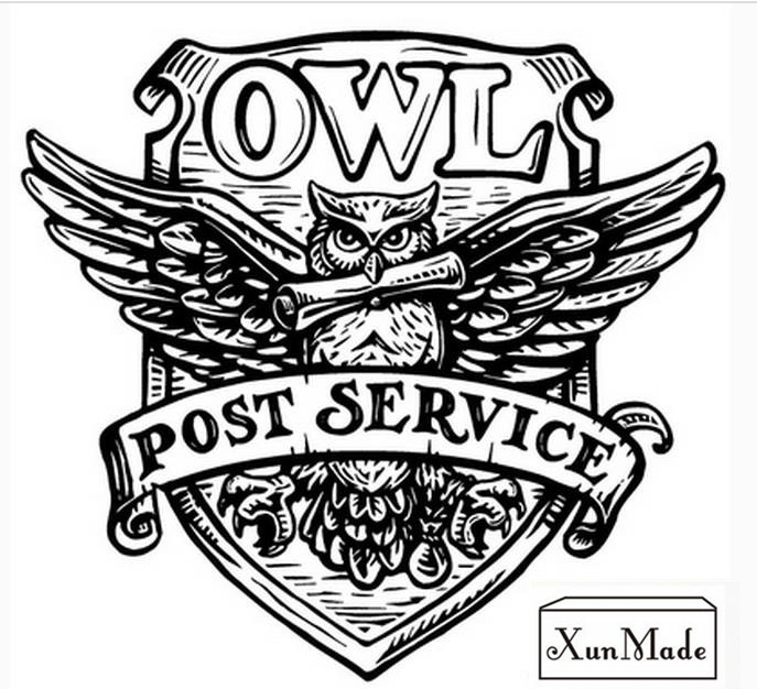 Retro Harry Potter post service OWL wax seal stamp copper head DIY Scrapbooking Vintage sealing wedding/envelop gift box set
