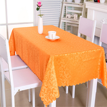 Senisaihon Polyester Tablecloth Europe Luxury Flowers Hotels Solid Table cloth Wedding Banquet Washable Cover Textiles