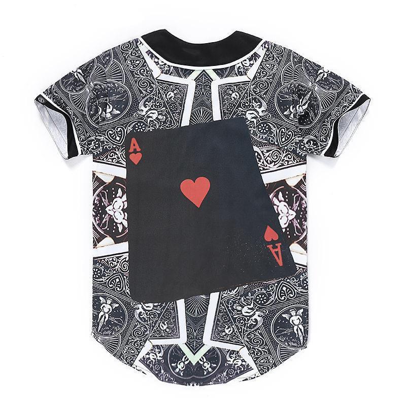 Poker Printed Funny Mens Camisa Masculina Homme Baseball Jersey 3D Shirt  Streetwear Tees Shirts Hip Hop T Shirt Card Top Tees 9d61fc0fc0c41