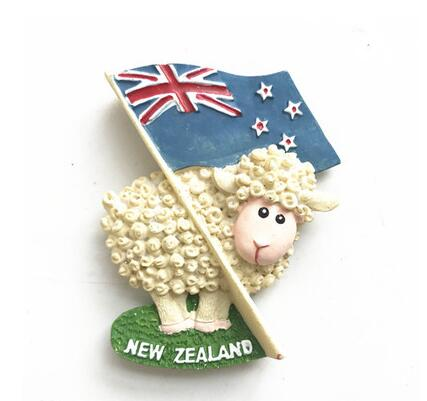European New Zealand Travel Souvenir Fridge Magnet Cartoon