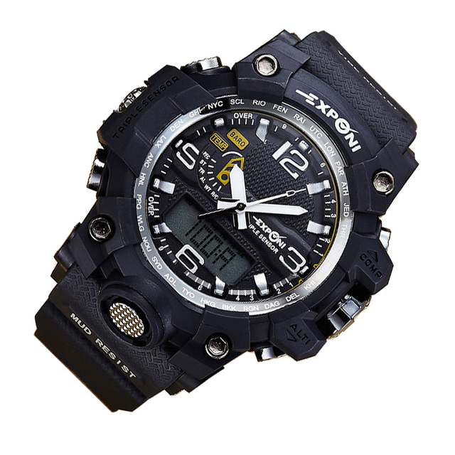 Мужская Цифровые Наручные Часы LED Несколько Раз Автоматическая Водонепроницаемые Часы Моды для Мужчин Часы Качество Часы Наручные Часы Подсветка