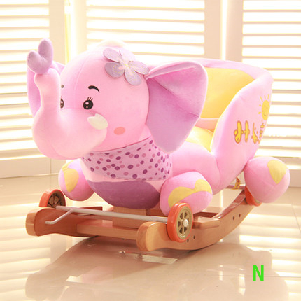 Wonderful New Rocker Chair Cradle Kids Plush Rocking Horse Animal Design Outdoor Fun  Toy Baby Ride On Toy Wooden Learning Balance In Cradle From Mother U0026 Kids  On ...