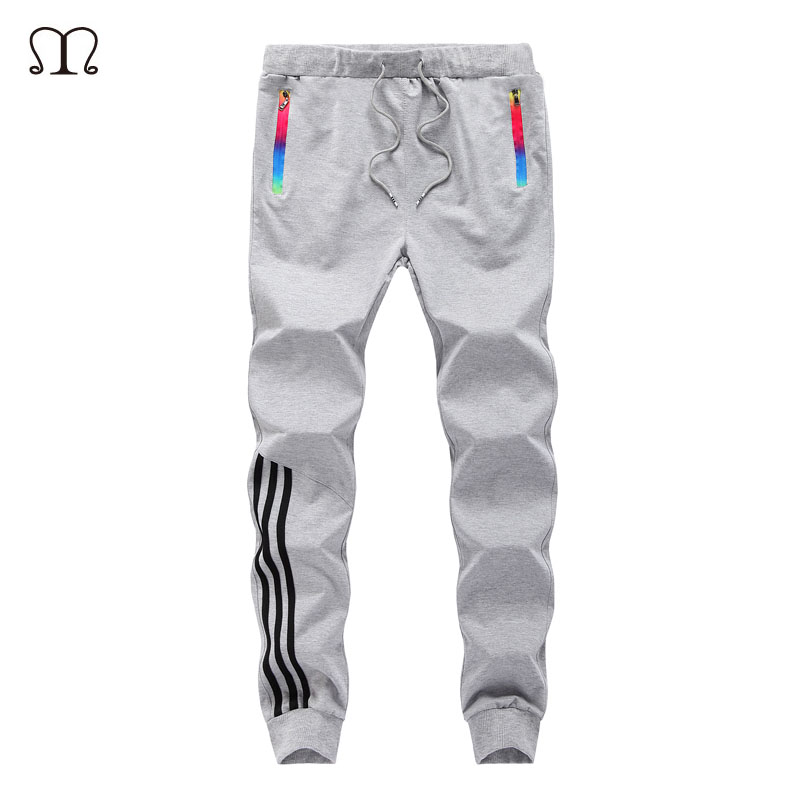 Spring Casual Men Sweat Pants Male Cotton Sportswear Casual Trousers Straight Pants Hip Hop