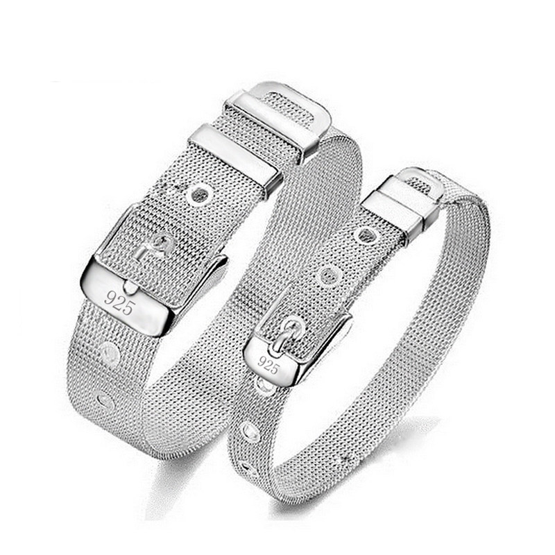 Fashion Exquisite Punk Style Belt Design Antique Silver Charm Bangle Ball Men Wedding Charm Vintage Father's Day Gift