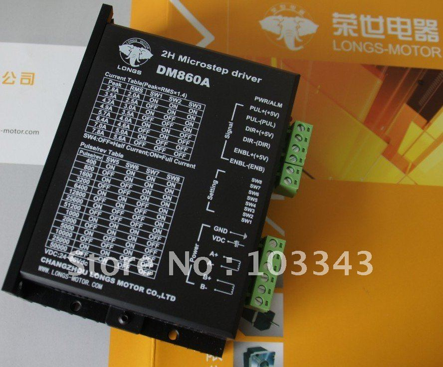 1PC New 2 Phase NEMA34 Stepper Motor Driver 256 Micsteps DM860A 7.8A 24-80VDC