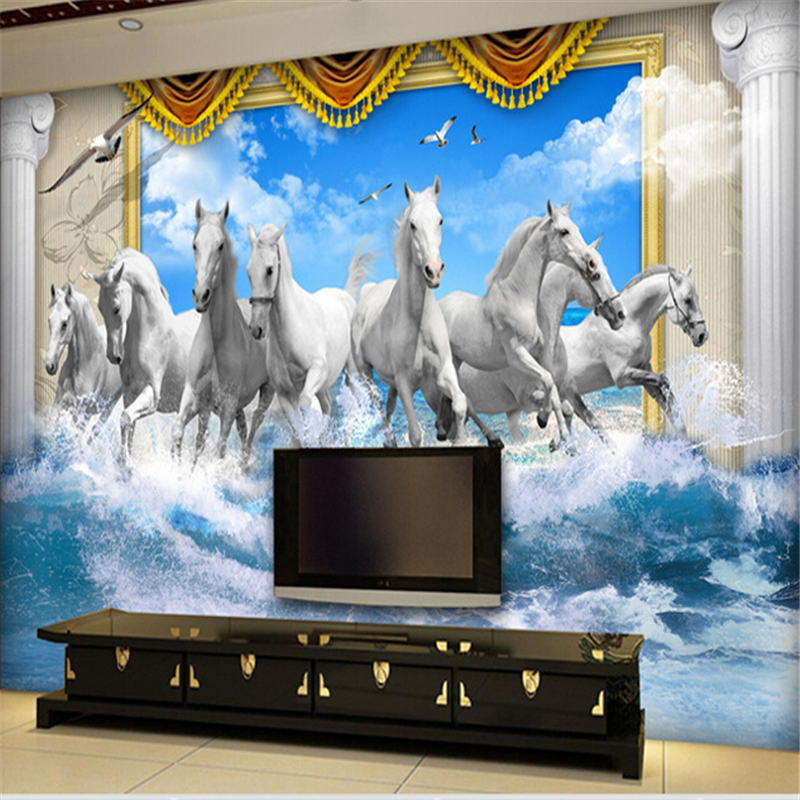Horse Wall Murals popular horse wall mural-buy cheap horse wall mural lots from