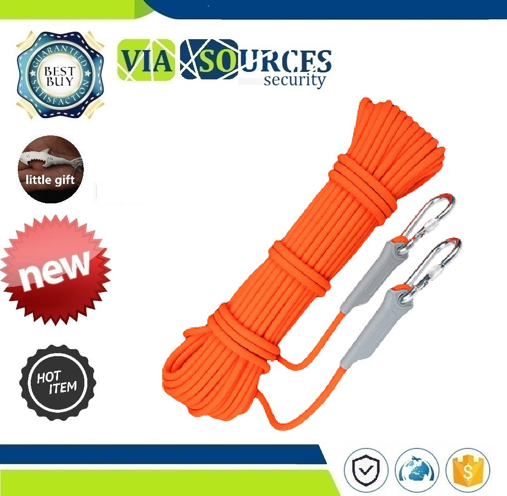 Self Defense Emergency Life Saving Rope Rescue Equipment Supplies 10M Safety Lifeline Outdoor Survival Climbing Auxiliary Rope