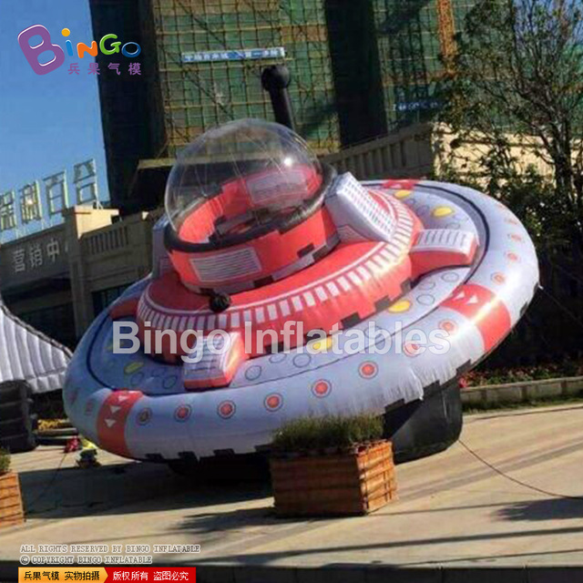 big inflatable UFO display balloon model for advertising events 7m or customize BG-A0695-2 flashing toy