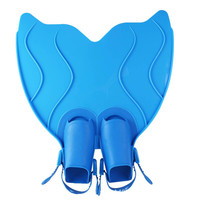 Children Swimming Training Mermaid Flippers Silicone Long Flippers