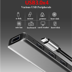 Image 2 - Multifunction USB Type c Docking Station USB C HUB To USB 3.0 RJ45 VGA Adapter for MacBook Samsung Galaxy S8 S9 HUAWEI Matebook