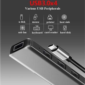 Image 2 - USB משולב סוג c עגינה תחנת USB C רכזת USB 3.0 RJ45 VGA מתאם עבור MacBook Samsung Galaxy S8 s9 HUAWEI Matebook