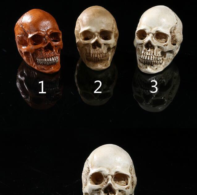 Attirant Human Skulls Personality Home Decorations Ornament Medical Teaching Aids  Resin Craft Skull Halloween Decoration Props Cranium