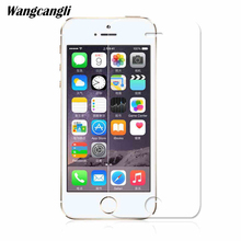 Wangcangli tempered glass 2.5d for iphone 4  5 6 7 8 plus x protect film 9H HD protective Scratch 0.28MM
