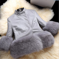 Woman Kinder toddler child baby kid clothes robocar costume roupas fur coat vestido girl outerwear luxury fur jacket