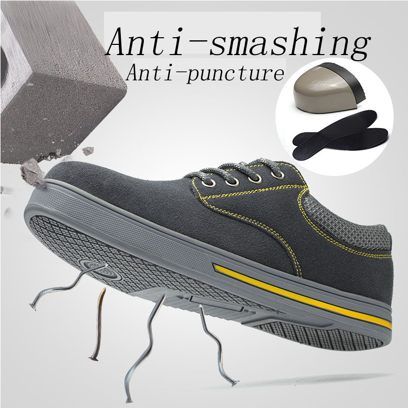 New 2019 men casual Safety Shoes Steel Toe Cap work Boots modis Lightweight Anti-slip Steel Puncture indestructible sneakers manNew 2019 men casual Safety Shoes Steel Toe Cap work Boots modis Lightweight Anti-slip Steel Puncture indestructible sneakers man