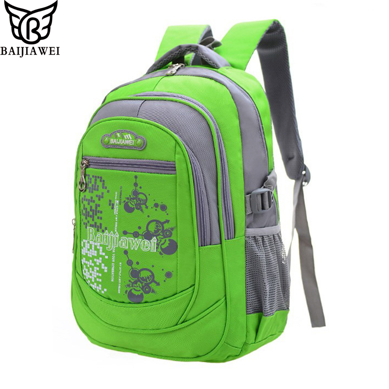 BAIJIAWEI Children Kids Backpacks Waterproof Fashion Print School Backpacks for Girls Boy Backpack School Bags Mochila Escolar baijiawei new children school bags for girls boys children waterproof backpack in primary school backpacks mochila infantil zip