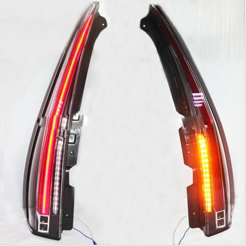Free shipping VLAND Car taillight For GMC Yukon for Tahoe Suburban LED Tail lamp 2007-2014DRL Cadillac Escalade Style free shipping vland factory car parts for camry led taillight 2006 2007 2008 2011 plug and play car led taill lights