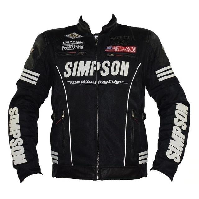 5 Racing Moto Pcs Simpson Veste D'équitation D'été qg8xHUXw