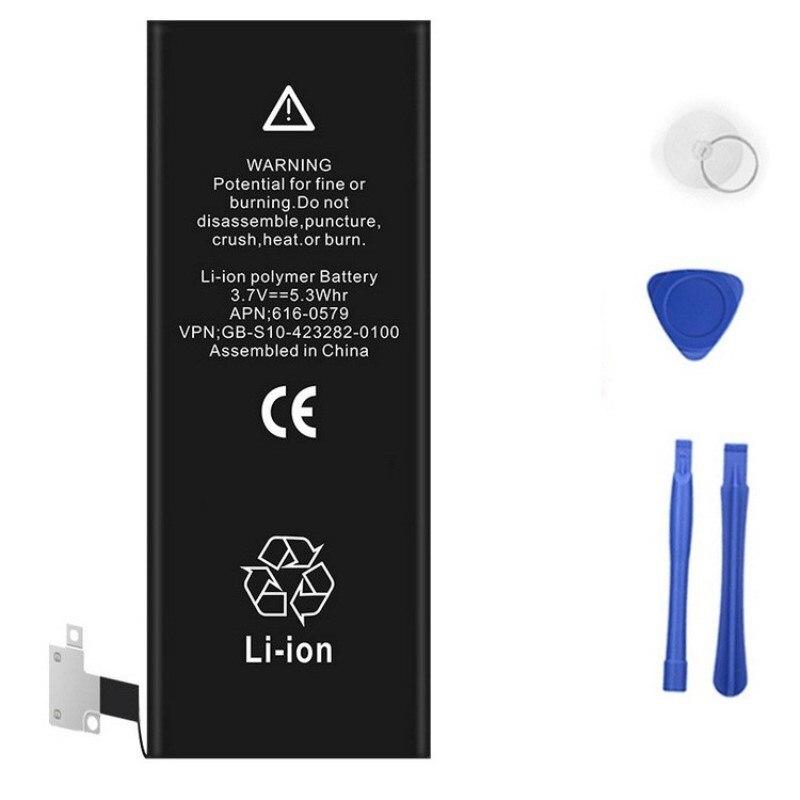 imágenes para Rhoada 100% original li-ion polímero batería del teléfono para iphone 4 4s 5 5C 5S 6 6 S Plus Con Máquinas Herramientas Kit de Baterías Móviles Caso