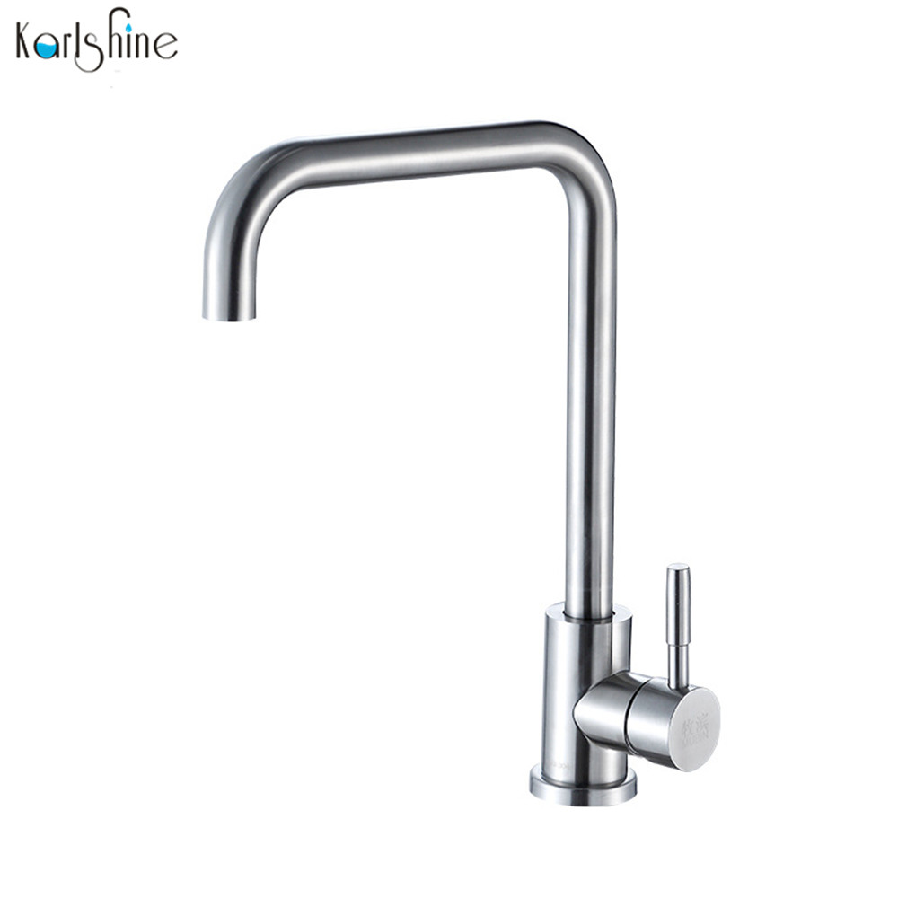 compare prices on brushed stainless steel kitchen taps online free shipping 304 stainless steel brush nickel kitchen faucet hot and cold water kitchen sink taps