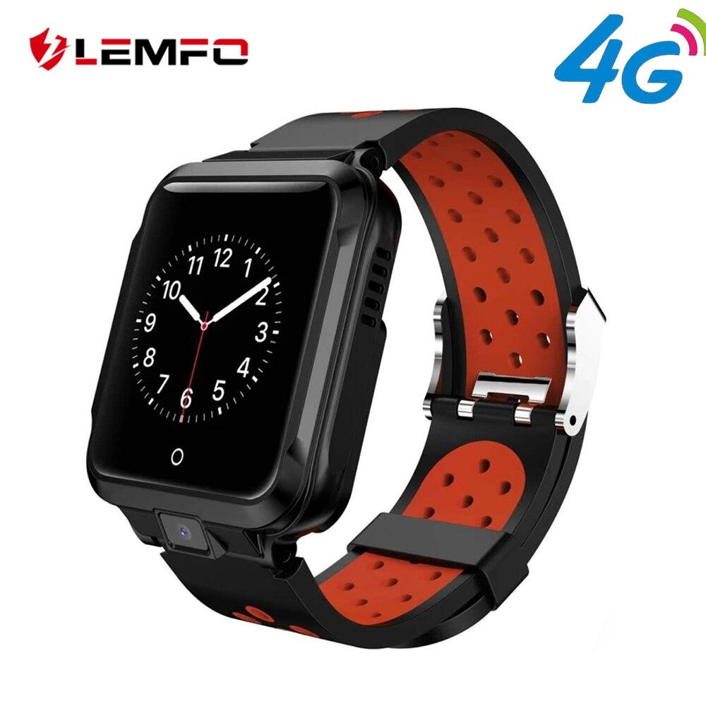 LEMFO M11 4G montre intelligente Android GPS Bluetooth Wifi caméra 1 GB + 8 GB 750 Mah grande batterie Sport Smartwatch hommes bracelet remplaçable