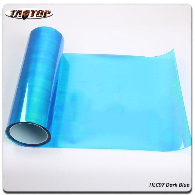 CnHGarts 0310m High Quality Dark Blue Rainbow Effect Car Light Taillight Tint Film Vinyl