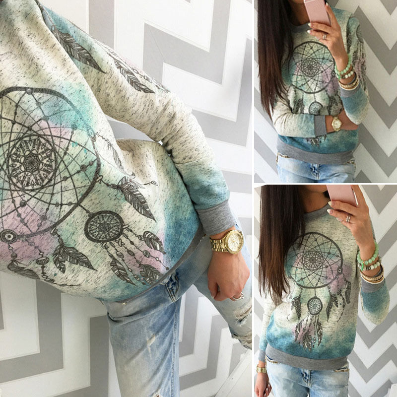 HIRIGIN Newest Hot Women Casual Long Sleeve Tops Girl Loose Soft Fashion Autumn Sweatshirt