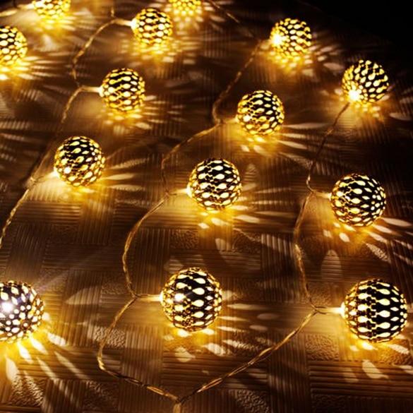 new 2015 20 led party wedding festival christmas lights decorations golden ball lights strobe night lights - Strobe Christmas Lights