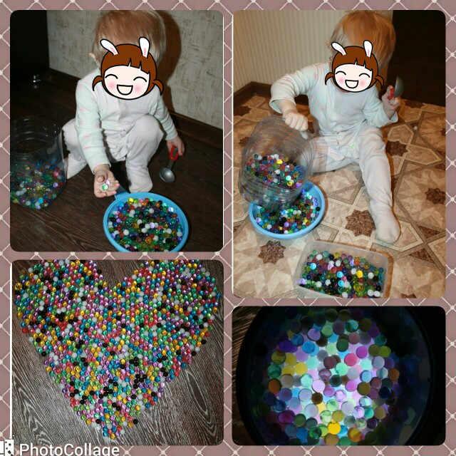 1440 pcs/lot Crystal Soil Water Beads Hydrogel Gel Polymer Seeds Flow Mud Grow Ball Beads Orbiz Growing Bulbs Children Toy Ball