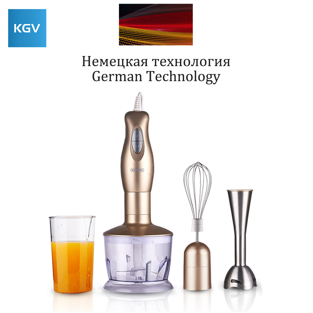 KGV blender mixer food juicer smoothie multifunction portable stick vegetable processor dough Egg beater stainless steel commercial blender mixer juicer power food processor smoothie bar fruit electric blender ice crusher