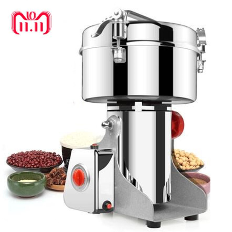 все цены на 1000g Grains Spices Hebals Cereals Coffee Dry Food Grinder Miller Grinding Machine gristmill home medicine flour powder crusher