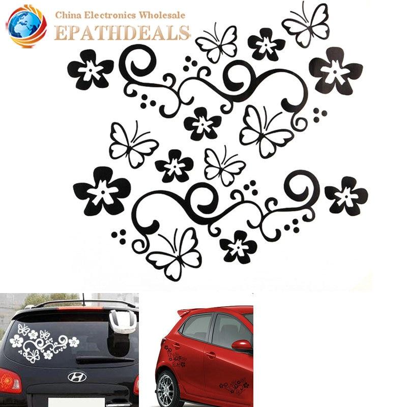Popular Flower Car DecalBuy Cheap Flower Car Decal Lots From - Car sticker decal