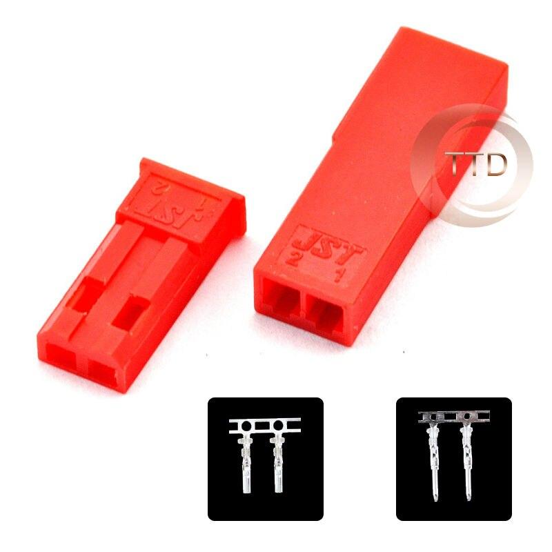 Automotive Battery Cables And Connectors : Set lot jst connector plug pin female male and crimps
