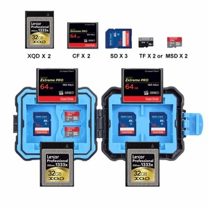 Image 5 - PULUZ Memory Card Case USB 3.0 SD CF TF Reader + OTG Fuction 9/22/27 Slots Waterproof SD CF TF SIM Cards storage Case Holder