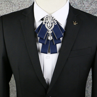 British Diamond Collar Bowties Fashion Necktie Men S Gift Silk Ties For Men Business Wedding Groom