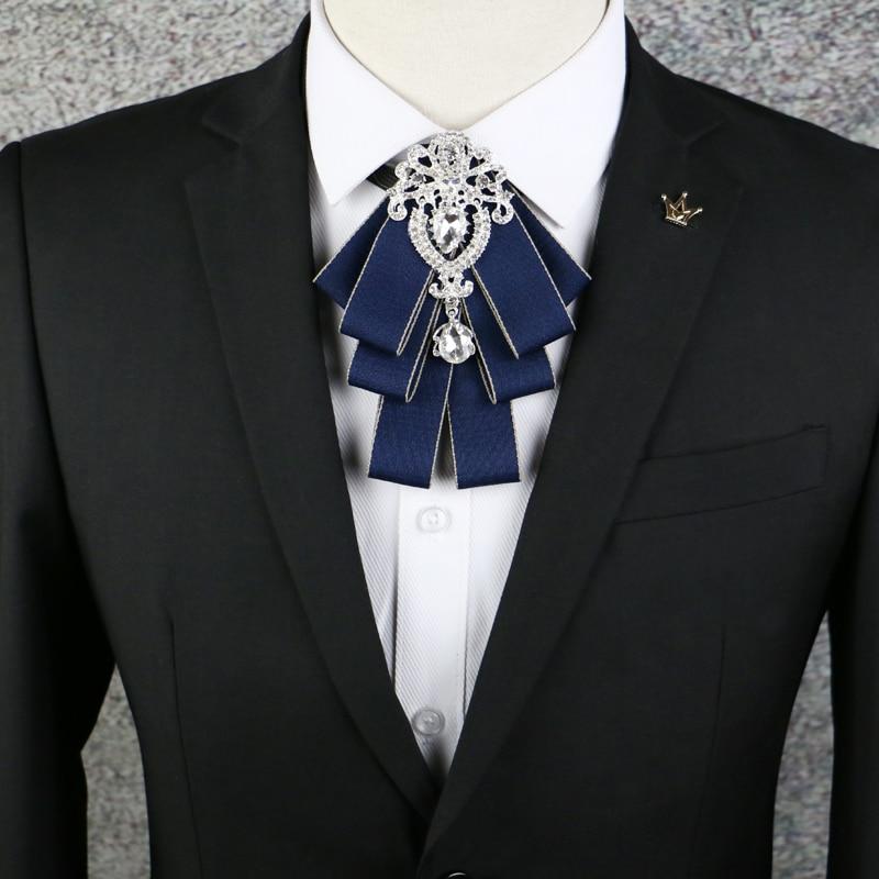88ac7beec156 IASKY British Diamond Collar Bowties Fashion Necktie Men's Gift Silk Ties  for Men Business Wedding Groom Groomsmen Mens Ties-in Men's Ties &  Handkerchiefs ...
