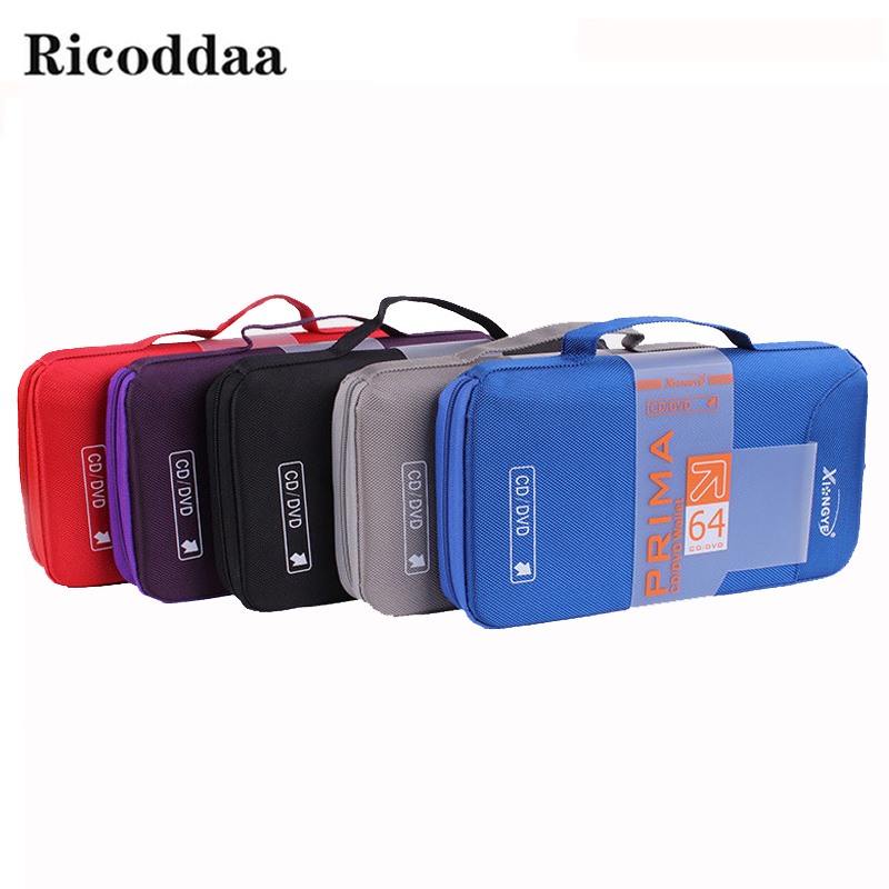 цена на 96/64 Disc Capacity DVD CD Case Holder For Car Media Storage CD Bag Portable Carry Bag Box For DVD CD Accessories