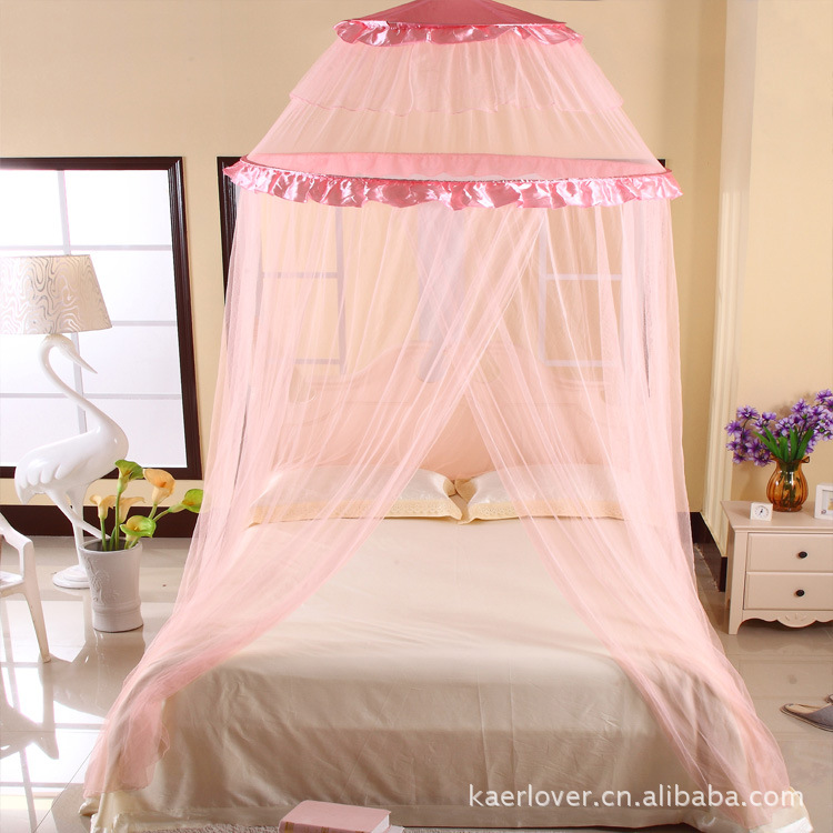 2017 New Summer Hanging Royal Princess Bed Mosquito Nets Ceiling Dome Ground Palace Applicable All Size Quality In Net From Home Garden