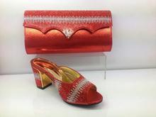 Italienische Schuhe mit Passenden taschen Für party afrikanische Schuhe Und Taschen zu spiel set hohe qualität damen passende schuh-und taschen WVL1-