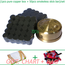 Wholesale and Retail new type thicken pure copper health beauty fumeless moxa moxibustion set