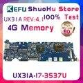 Материнская плата KEFU UX31A2  для ASUS UX31A REV4.1  4G  память  сенсорная  ZenBook  для ноутбука  протестирована  100% рабочий  оригинальная материнская плата