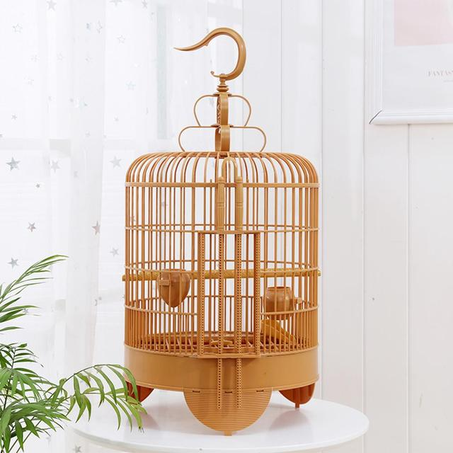 Bird Cage Breathable Travel Carrier Assembly Bird Cage With Feeder &Waterer Small Pet Bird Plastic Bird House Thrush Parrot Cage 1